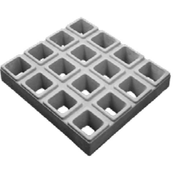 Elemento Vazado 16 Furos Diagonal